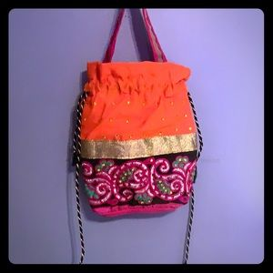 Handbags - INDIAN small lunch/cosmetic/jewelry tote